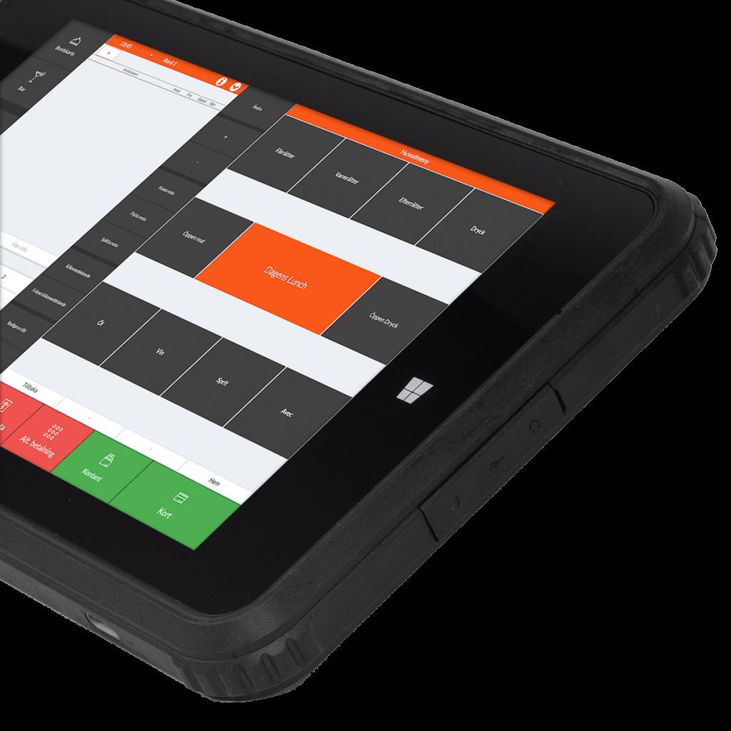 Ancon G2 Tablet -Bild på mobilt kassasystem för restauranger