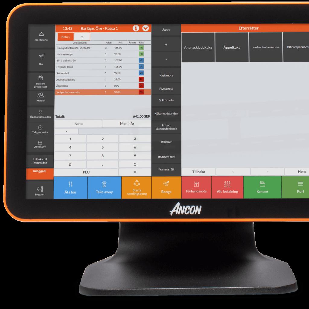 FlexUI - gränssnitt för kassasystem på restauranger