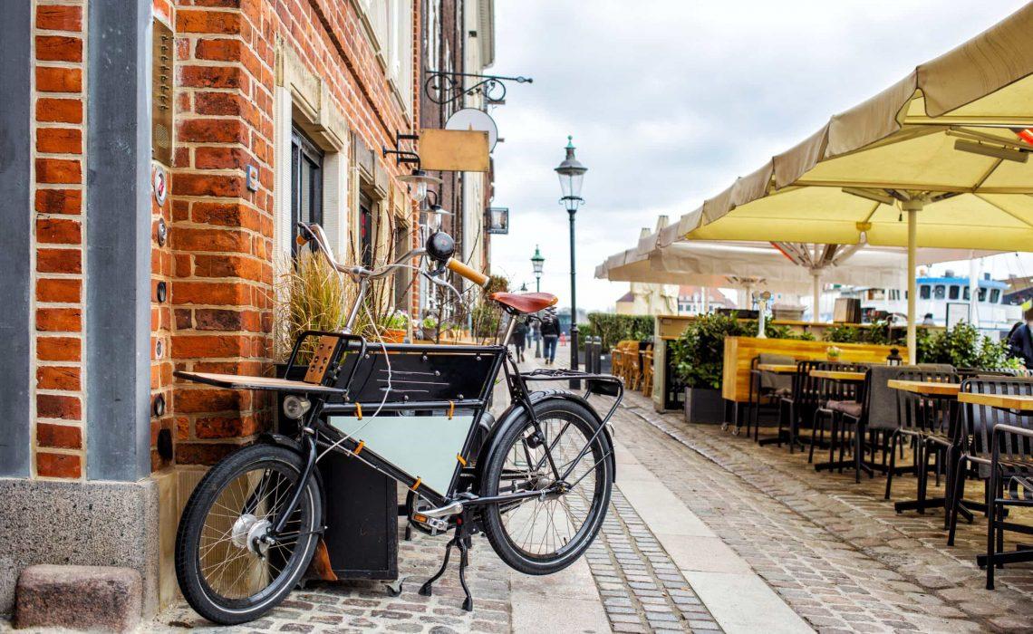 View of Nyhavn restaurant street, Copenhagen, Denmark